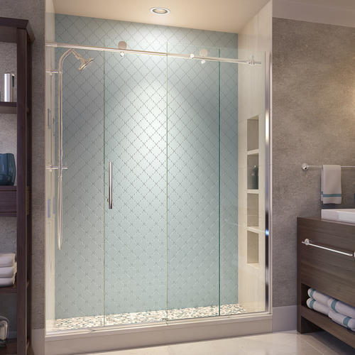 roda by basco vinesse rolling door and fixed panel shower enclosure at menards
