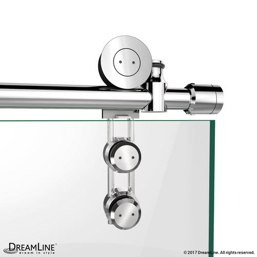 dreamline enigmaz fully frameless sliding shower door and slimline 32 in by 60 in single threshold shower base right hand drain at menards