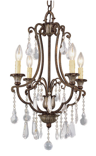 Patriot lighting elegant home natalie 23 3 4 4 light antique bronze chandelier at menards