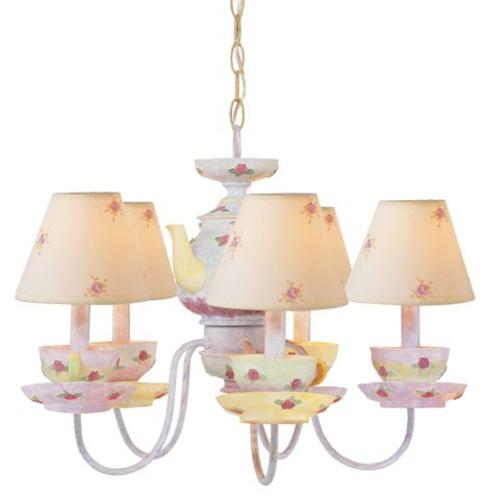 chandelier store teacup soft pink