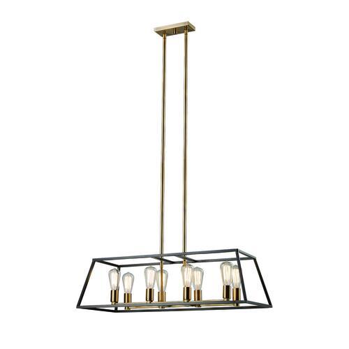 Bel Air Lighting Adams 8 Light Rubbed Oil Bronze Antique Gold Pendant At Menards