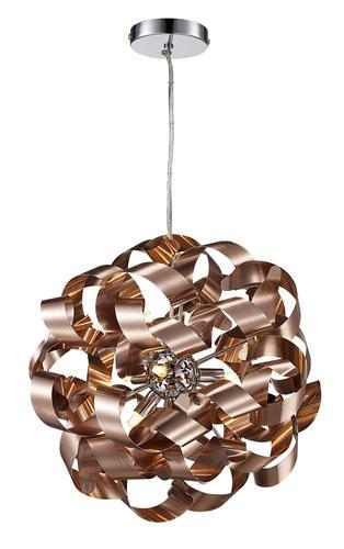 Bel Air Lighting Medley 9 Light Copper Pendant Light