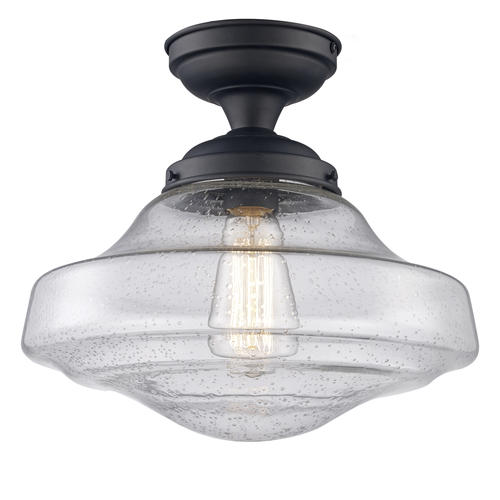 Patriot Lighting Demi Bronze 1 Light Semi Flush Mount Ceiling Light At Menards