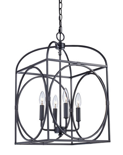 Bel Air Lighting Square Cage 4 Light Pendant At Menards