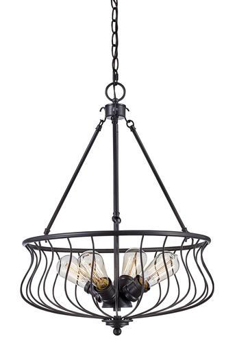 Bel Air Lighting Basket 4 Light Pendant At