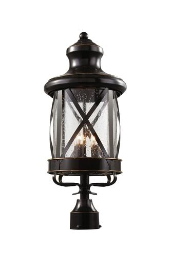 Bel Air Lighting Chandler 3 Light Rubbed Oil Bronze Post