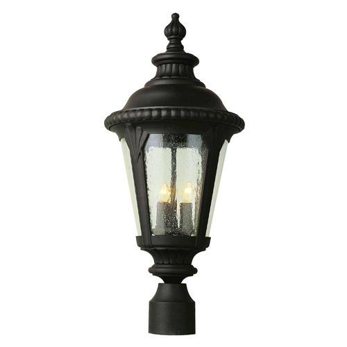 Bel Air Lighting Stonebridge 24 Black 3 Light Outdoor Post