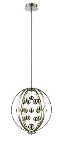 Patriot Lighting Elegant Home Allie 18 Led Chrome Pendant