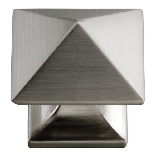 "Hickory Hardware Studio P3014-SN Satin Nickel 1/"" Square Cabinet Knob Pull"