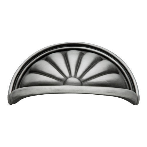 Hickory Hardware Satin Pewter Antique Cabinet Knob Pull Backplate P544-SPA