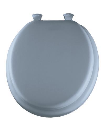 Mayfair Round Sky Blue Soft Vinyl Toilet Seat At Menards 174