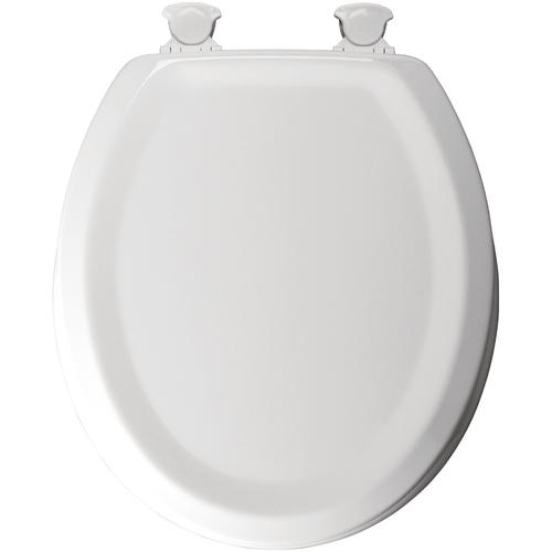 Mayfair Round White Molded Wood Design Toilet Seat At Menards