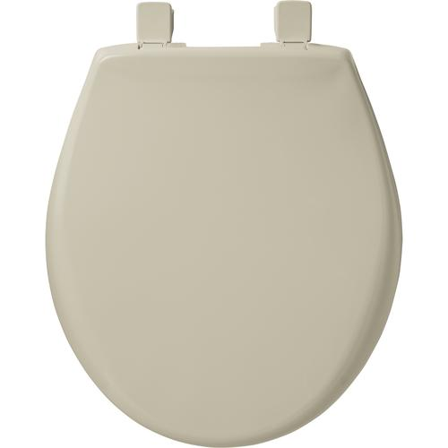 Awe Inspiring Mayfair Round Bone Plastic Toilet Seat With Easy Clean Pdpeps Interior Chair Design Pdpepsorg