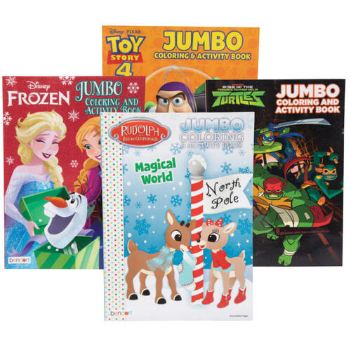 Licensed Jumbo Coloring And Activity Book Assorted Styles At Menards