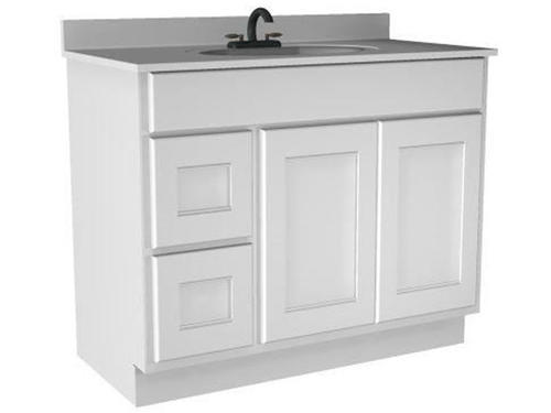 Briarwood 42  W x 21  D x 31  H Cottage Vanity Sink (Drawers Left) at Menards®  sc 1 st  Menards : 21 vanity cabinet - Cheerinfomania.Com