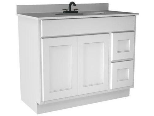 Briarwood 42 W X 18 D X 31 H Cottage Vanity Drawers Right At