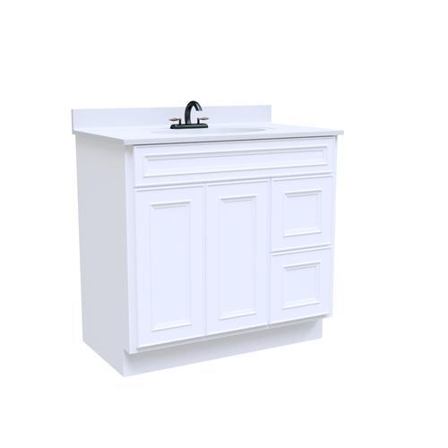 "Briarwood Highpoint 36""W x 18""D x 31""H Glacier Bathroom Vanity Cabinet"