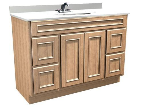 Groovy Briarwood Woodland 48W X 21D Bathroom Vanity Cabinet At Interior Design Ideas Tzicisoteloinfo
