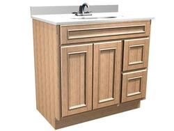 "Briarwood 36"" W x 18"" D x 31"" H Woodland Vanity (Drawers Right)"