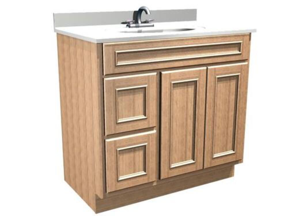 Briarwood Woodland 36 W X 18 D Bathroom Vanity Cabinet At Menards