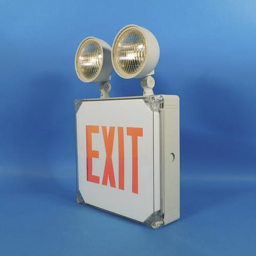 Best lighting indoor or outdoor wet location exit sign and - Exterior light with battery backup ...