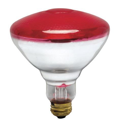 d153881ef973 100 Watt Red BR38 Incandescent Flood Light Bulb at Menards®