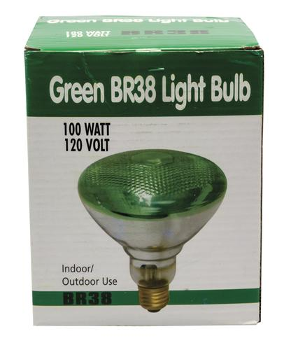 100 Watt Green Br38 Incandescent Flood