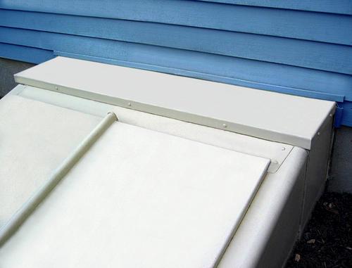 Bilco Classic Size C Prefinished Powder Coated Cellar Door Extension Kit At Menards