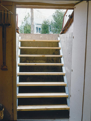 & Bilco Long Galvanized Steel Door Stair Stringers at Menards®