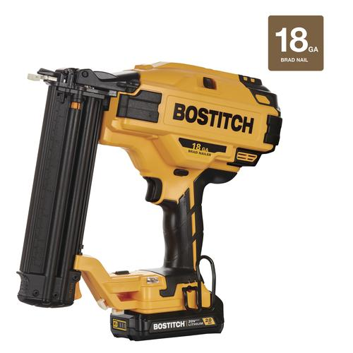Bostitch 20 Volt Max Lithium Ion Cordless Brushless 18 Gauge Brad Nailer Kit At Menards