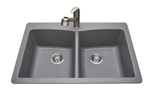 Tuscany 174 Dual Mount 33 Quot Granite Composite 1 Hole Double