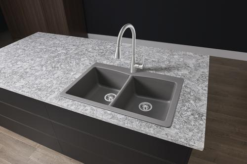 Remarkable Tuscany Dual Mount 33 Granite Composite 1 Hole Double Bowl Download Free Architecture Designs Scobabritishbridgeorg