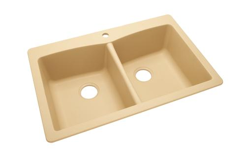 tuscany 33 equal double bowl dual mount kitchen sink at menards. Interior Design Ideas. Home Design Ideas