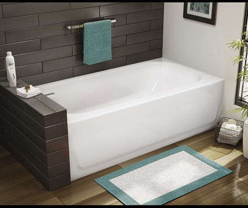 "briggs liberty ultracast™ 60"" x 30"" white bathtub with left-hand"
