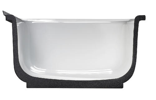 "briggs liberty ultracast™ 60"" x 30"" white bathtub with left-hand"