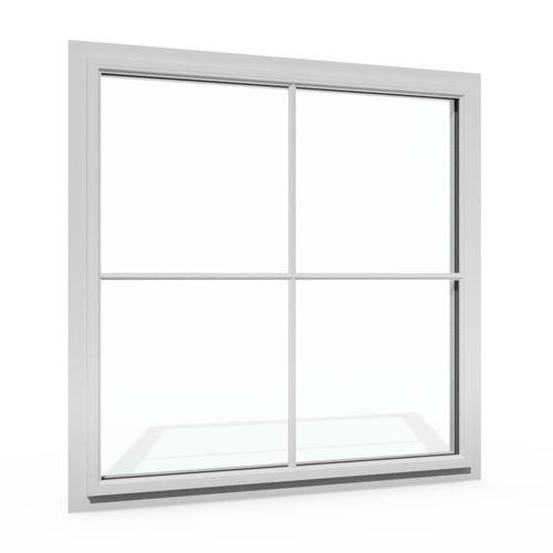 "Boyd® Architectural-Grade 6200 Historic Series Brushed Aluminum Finish 24""W x 36""H Aluminum Fixed Window with Nailing Flange"