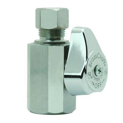 """50 1//2/"""" FIP X 3//8/"""" OD 1//4 TURN COMPRESSION ANGLE STOP VALVE LEAD FREE"""