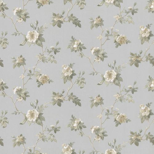 Brewster Silver Agatha Scrolling Floral Wallpaper at Menards®