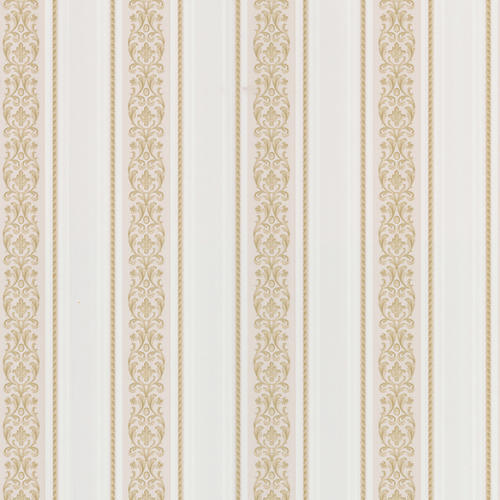 Brewster Beige Satin Scroll Stripe Wallpaper
