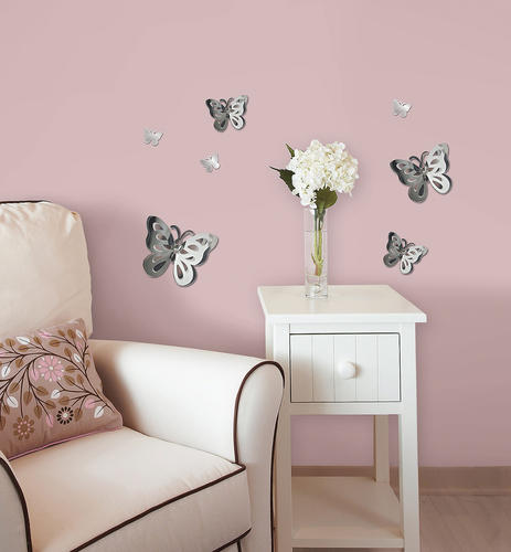 3d butterfly wall stckers wall decors wall art wall.htm brewster wallpops child   teen mirrored wall decal at menards    brewster wallpops child   teen mirrored