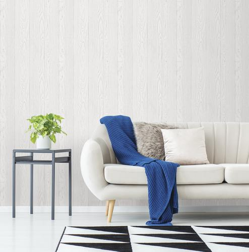 In Home Timber White Peel Stick Wallpaper At Menards