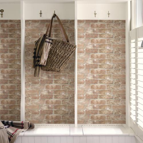 Inhome Brick Peel Stick Wallpaper Roll At Menards