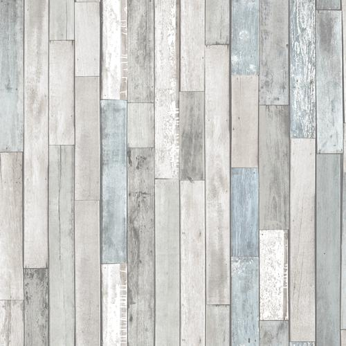 In Home Weathered Plank Shore Peel Stick Wallpaper At Menards