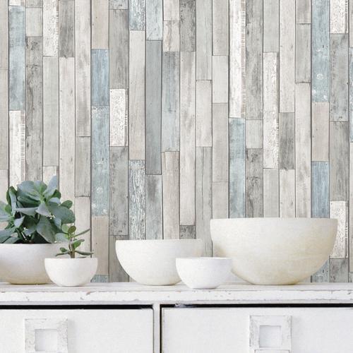 Inhome Weathered Plank Peel Stick Wallpaper Roll At Menards