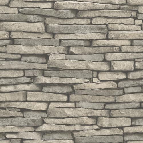 In Home Hickory Creek Stone Peel Stick Wallpaper At Menards