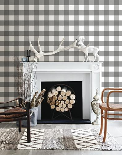 Inhome Homestead Plaid Peel Stick Wallpaper Roll At Menards