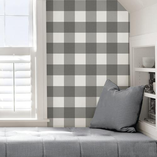 In Home Homestead Plaid Peel Stick Wallpaper At Menards