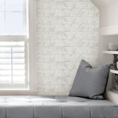 In Home Metro Carrara Peel Stick Wallpaper At Menards