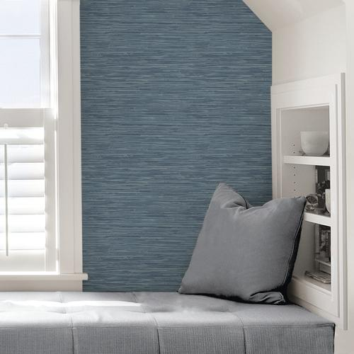 In Home Sisal Midnight Peel Stick Wallpaper At Menards