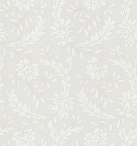 Brewster Ivory Wreath Jacobean Wallpaper